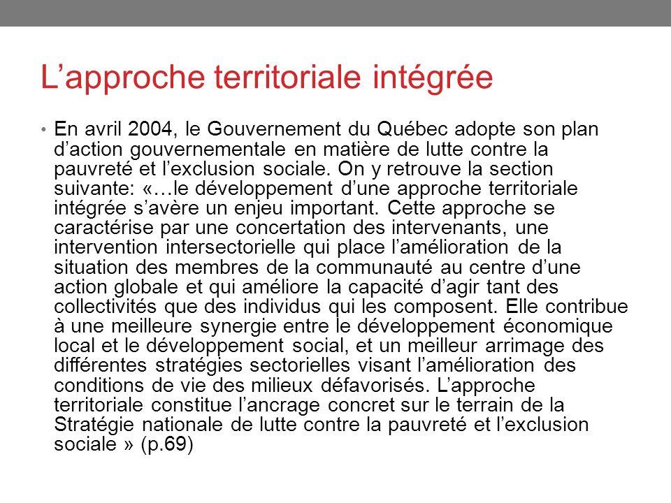 L'approche territoriale intégrée