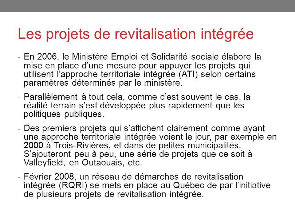 Les projets de revitalisation intégrée