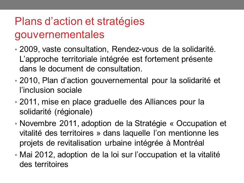 Plans d'action et stratégies gouvernementales