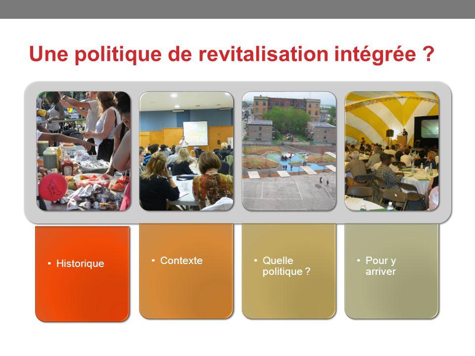 Une politique de revitalisation intégrée