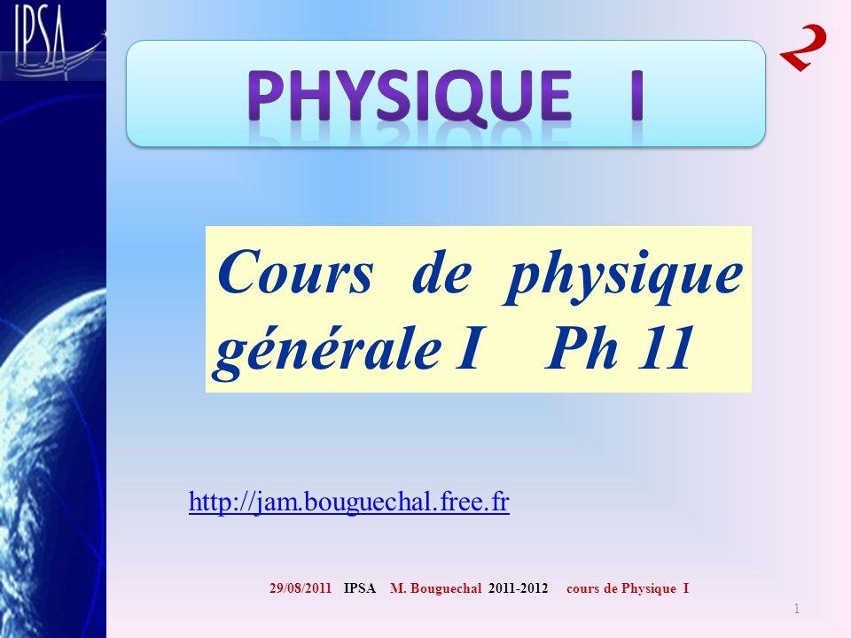 Cours de physique générale I Ph 11
