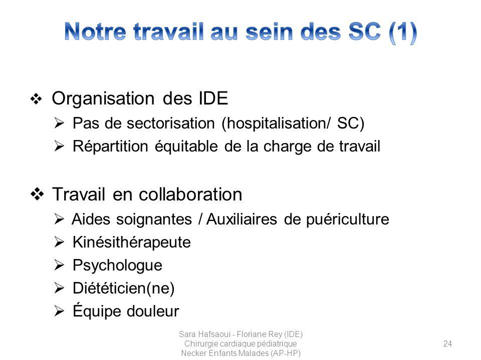 Notre travail au sein des SC (1)