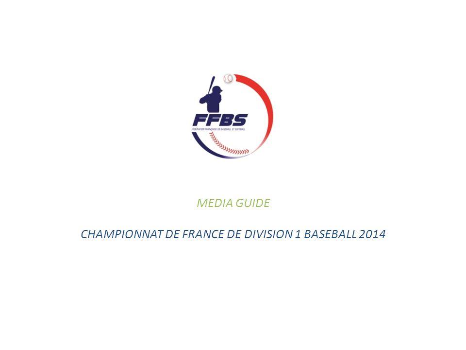 CHAMPIONNAT DE FRANCE DE DIVISION 1 BASEBALL 2014
