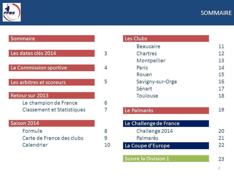 SOMMAIRE Sommaire 3 4 5 Le champion de France 6