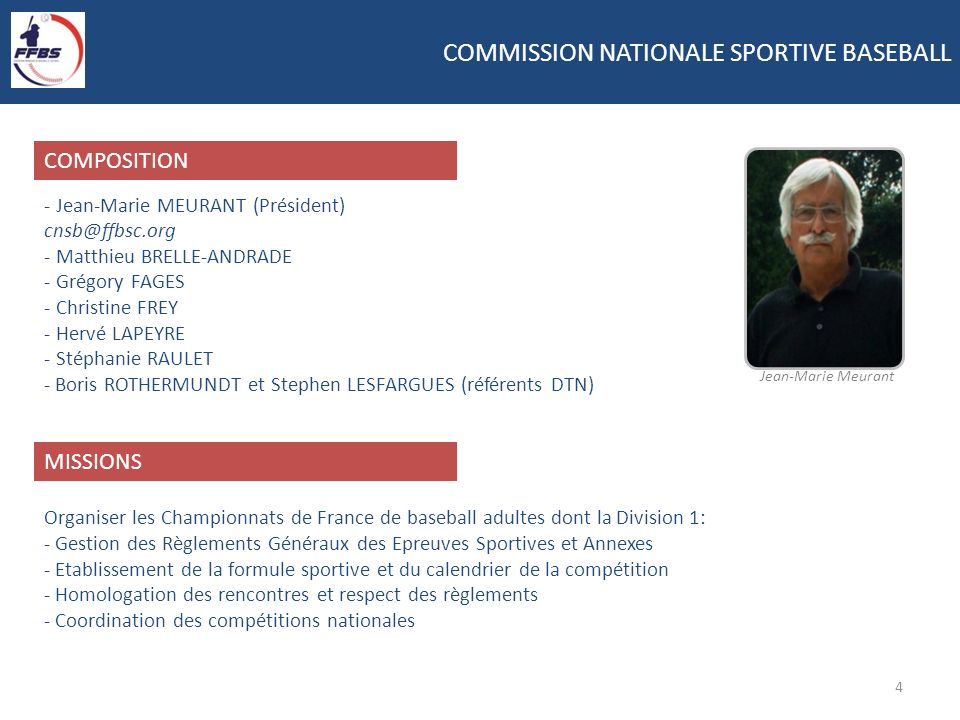 COMMISSION NATIONALE SPORTIVE BASEBALL