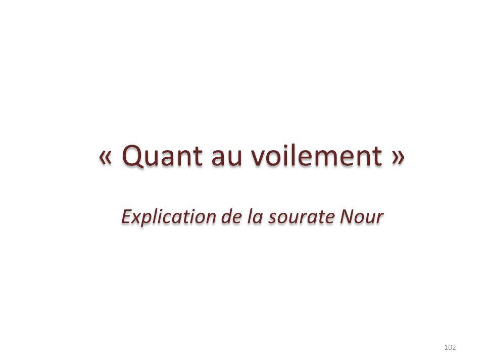 Explication de la sourate Nour