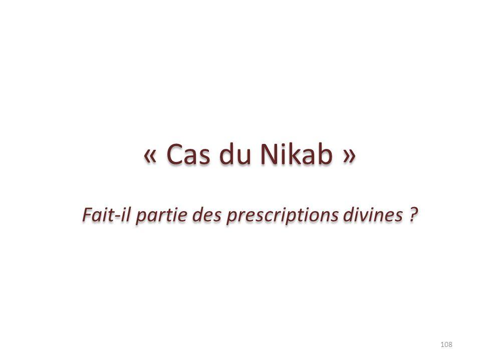 Fait-il partie des prescriptions divines