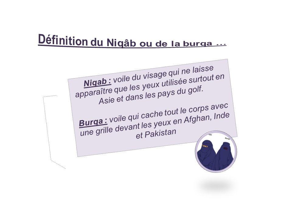 Définition du Niqâb ou de la burqa …