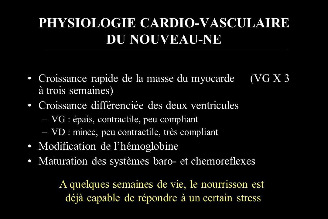 PHYSIOLOGIE CARDIO-VASCULAIRE DU NOUVEAU-NE