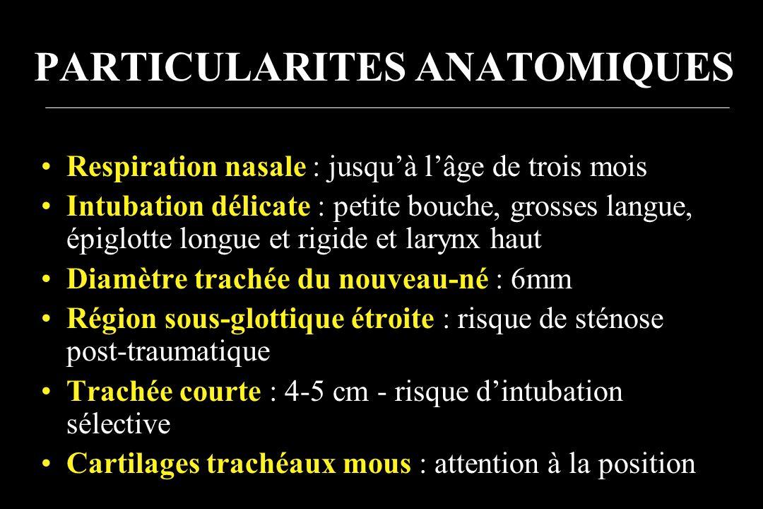 PARTICULARITES ANATOMIQUES