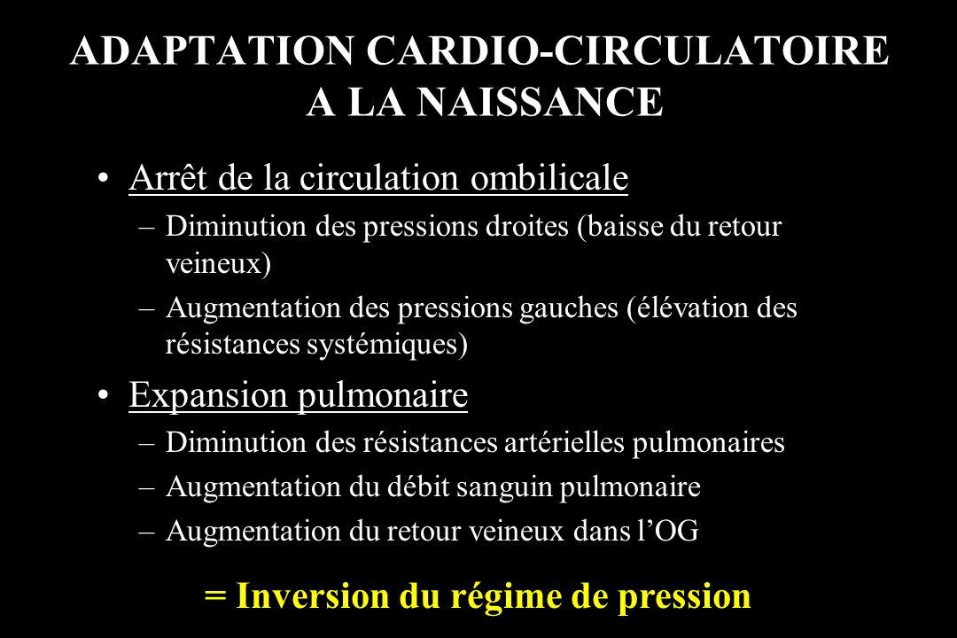 ADAPTATION CARDIO-CIRCULATOIRE A LA NAISSANCE