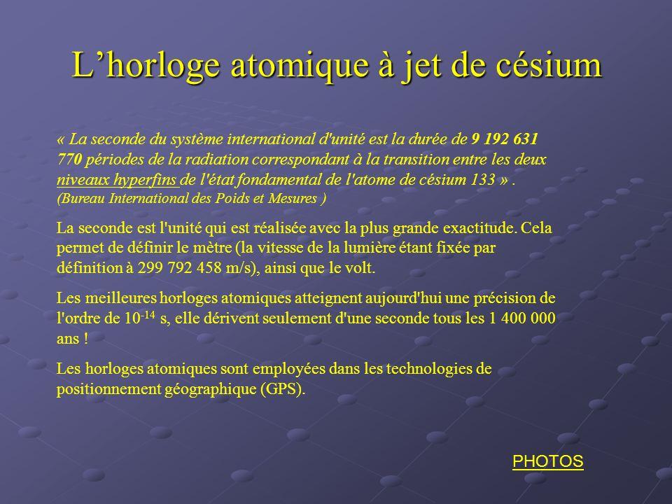L'horloge atomique à jet de césium