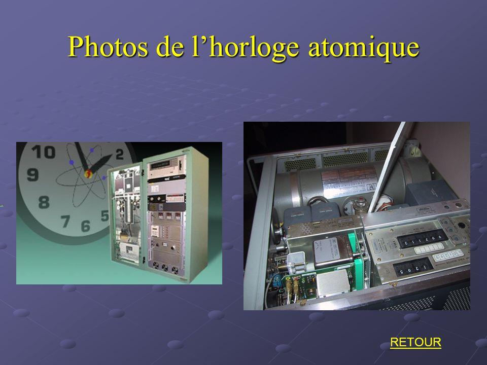Photos de l'horloge atomique