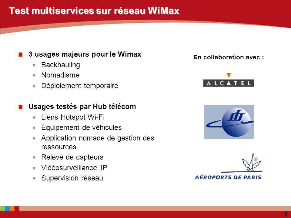 Test multiservices sur réseau WiMax