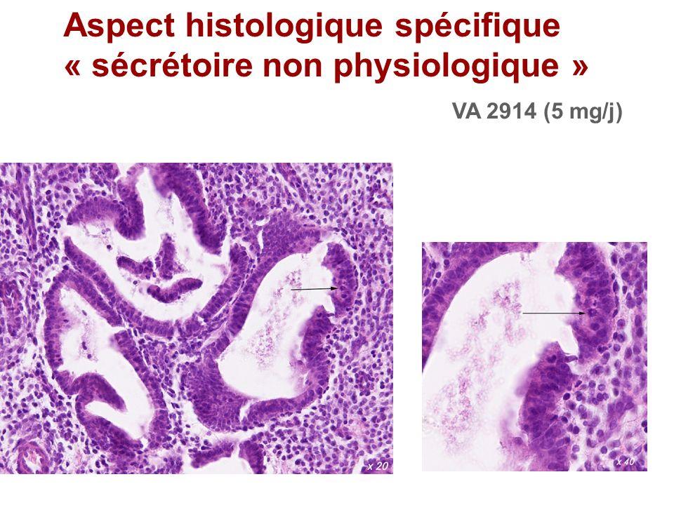 Aspect histologique spécifique « sécrétoire non physiologique »