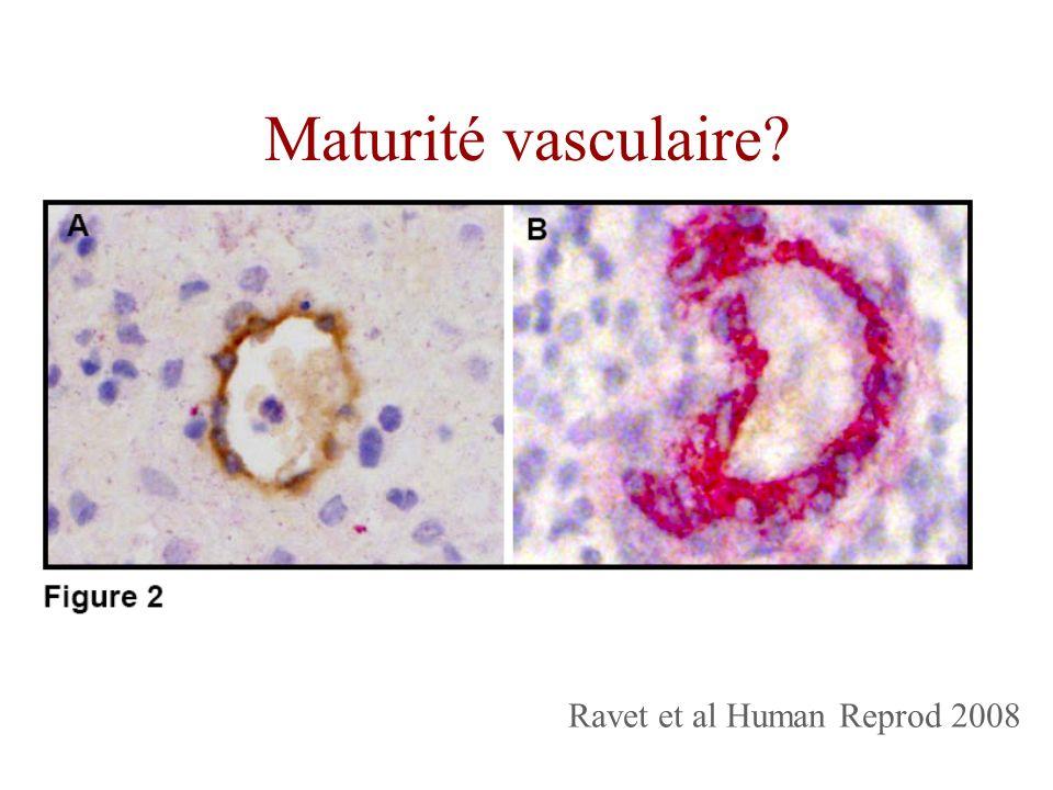 Maturité vasculaire Ravet et al Human Reprod 2008