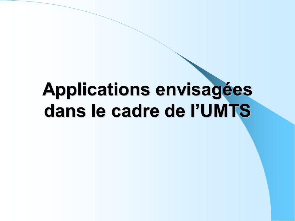 Applications envisagées dans le cadre de l'UMTS