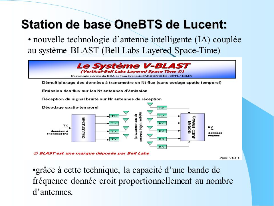 Station de base OneBTS de Lucent: