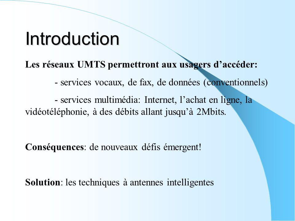 Introduction Les réseaux UMTS permettront aux usagers d'accéder: