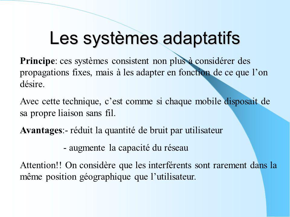 Les systèmes adaptatifs