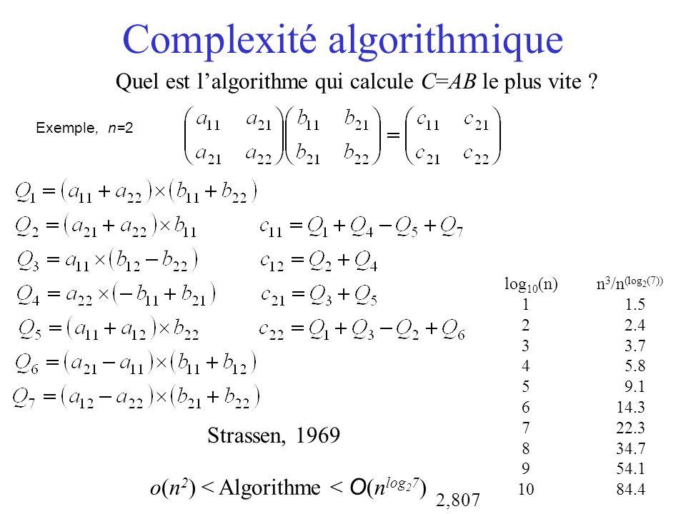 Complexité algorithmique