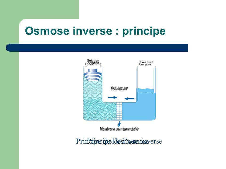 Osmose inverse : principe