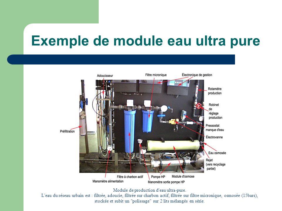 Exemple de module eau ultra pure