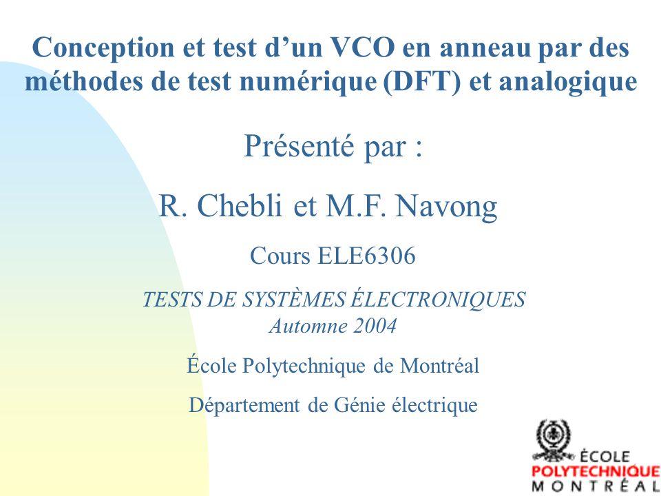 Conception et test d'un VCO en anneau par des méthodes de test numérique (DFT) et analogique