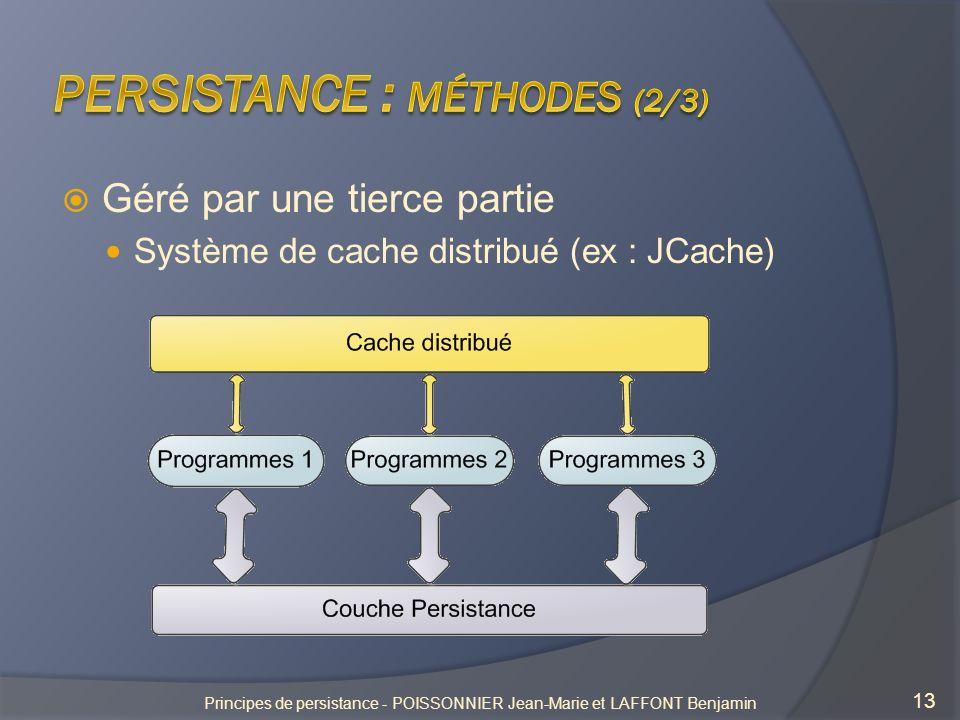 Persistance : méthodes (2/3)