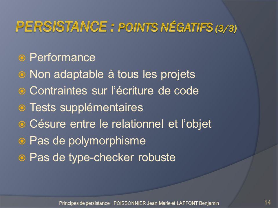 Persistance : points négatifs (3/3)