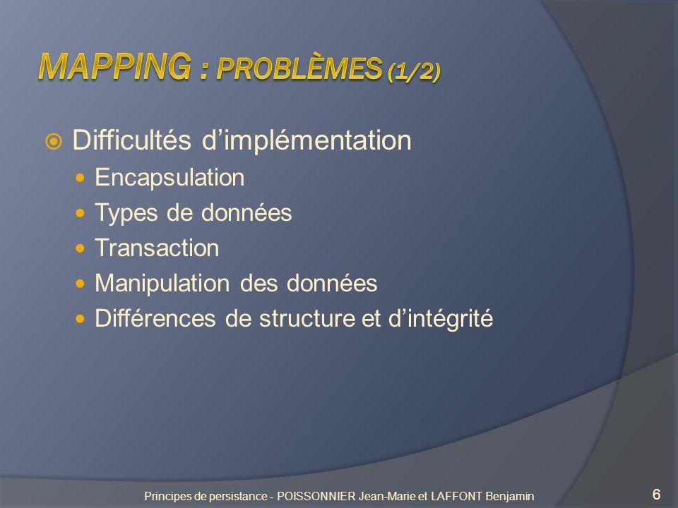 Mapping : Problèmes (1/2)