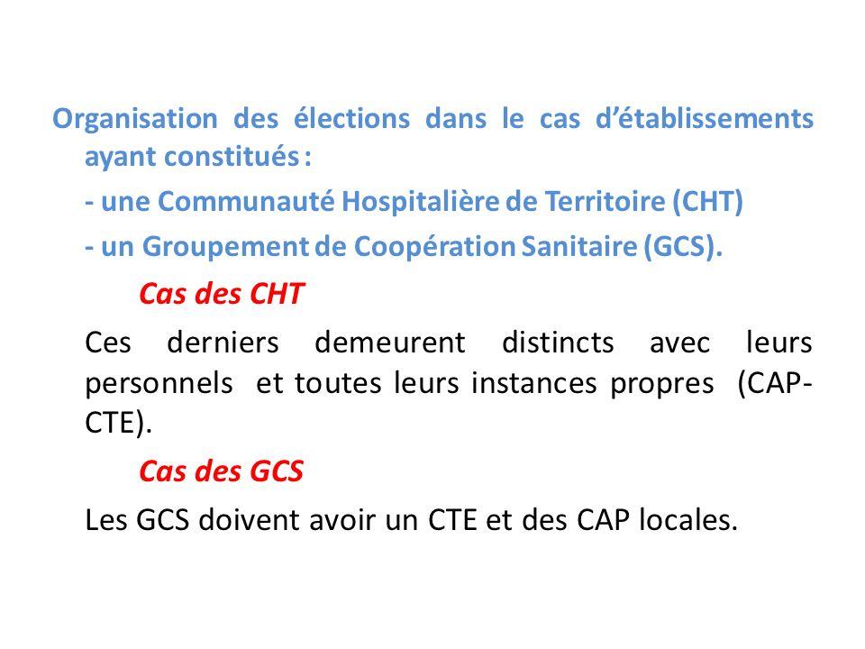 Les GCS doivent avoir un CTE et des CAP locales.