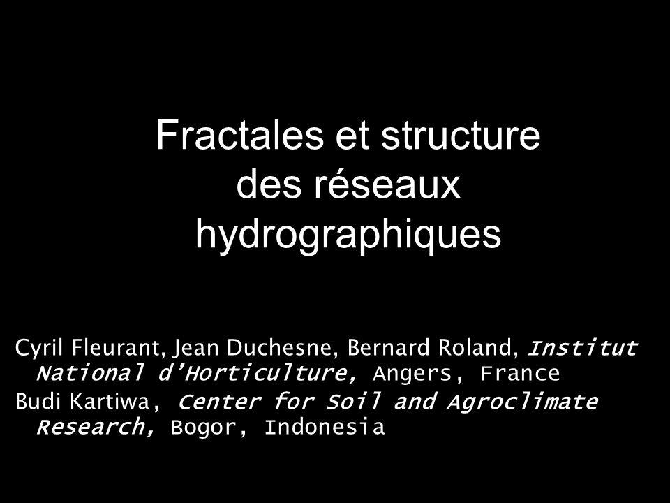 Fractales et structure des réseaux hydrographiques
