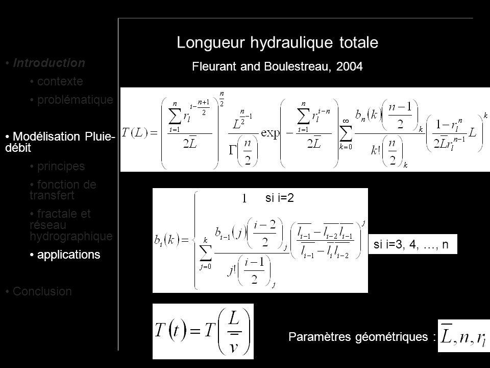 Longueur hydraulique totale