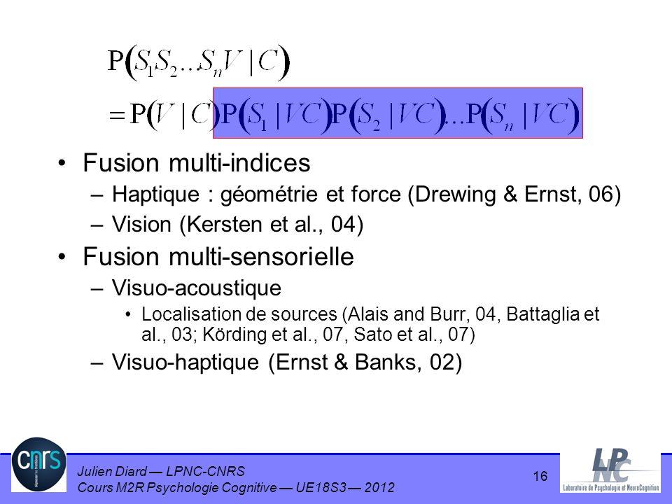Fusion multi-sensorielle