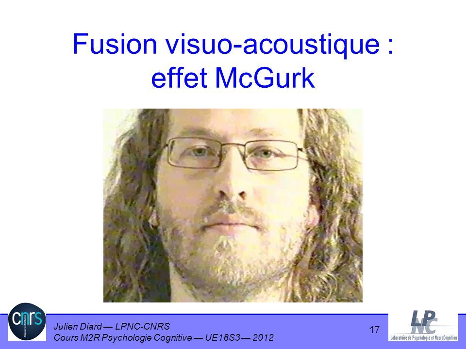 Fusion visuo-acoustique : effet McGurk