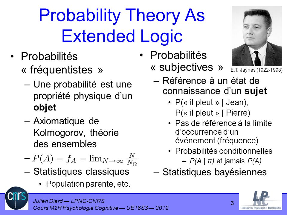 Probability Theory As Extended Logic