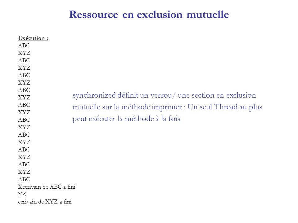 Ressource en exclusion mutuelle