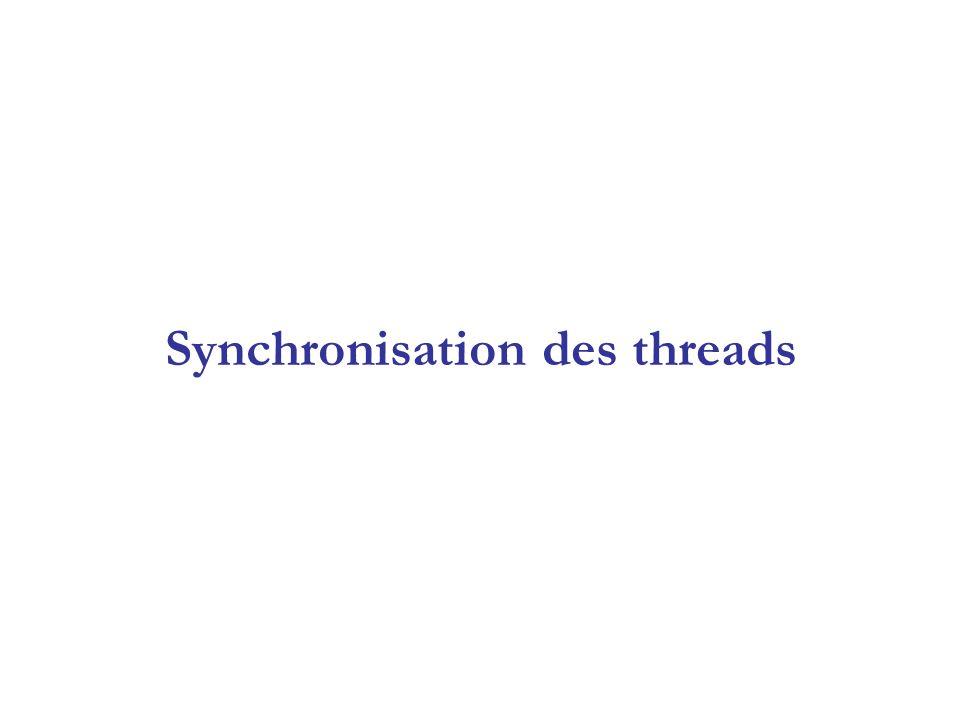 Synchronisation des threads