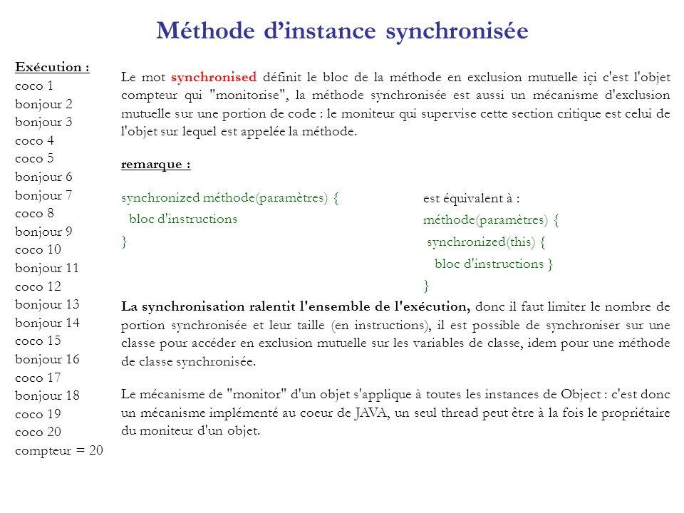 Méthode d'instance synchronisée