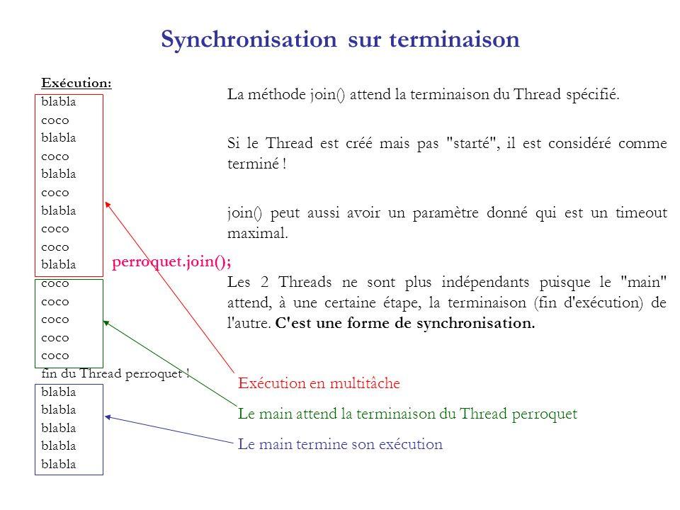 Synchronisation sur terminaison