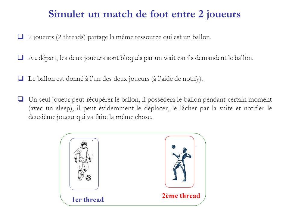Simuler un match de foot entre 2 joueurs