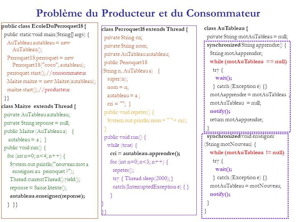 Problème du Producteur et du Consommateur