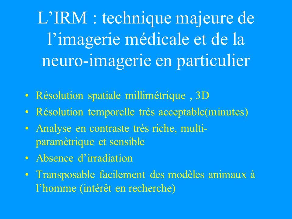 L'IRM : technique majeure de l'imagerie médicale et de la neuro-imagerie en particulier