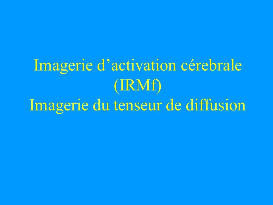 Imagerie d'activation cérebrale (IRMf) Imagerie du tenseur de diffusion