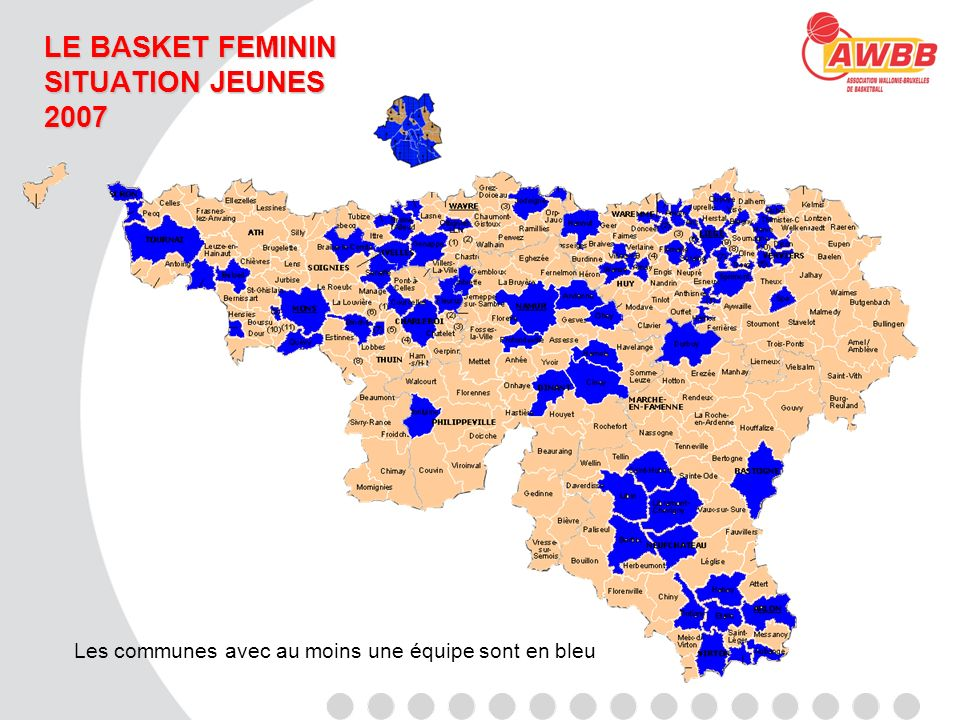 LE BASKET FEMININ SITUATION U14 2007