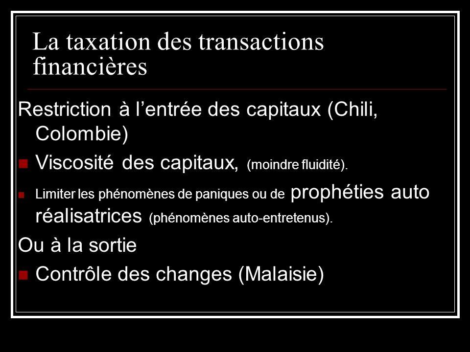 La taxation des transactions financières