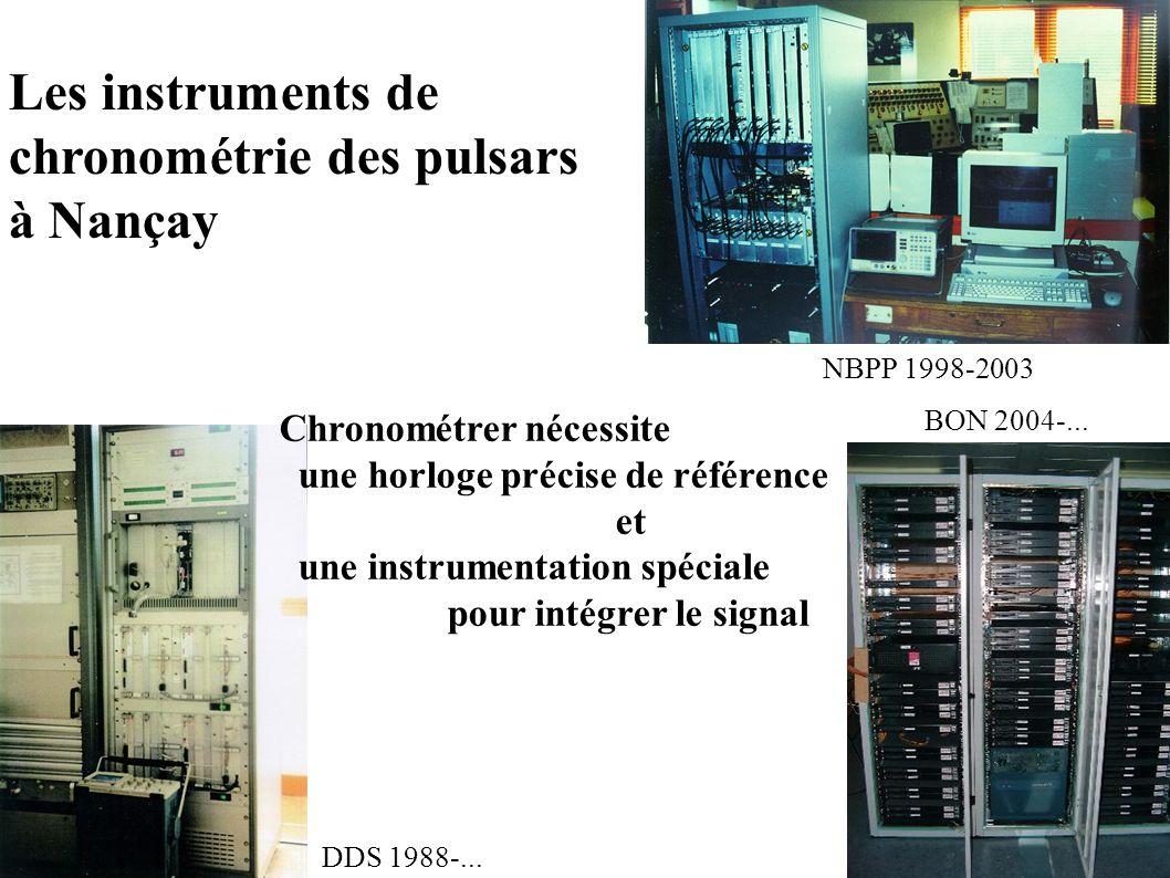 chronométrie des pulsars à Nançay