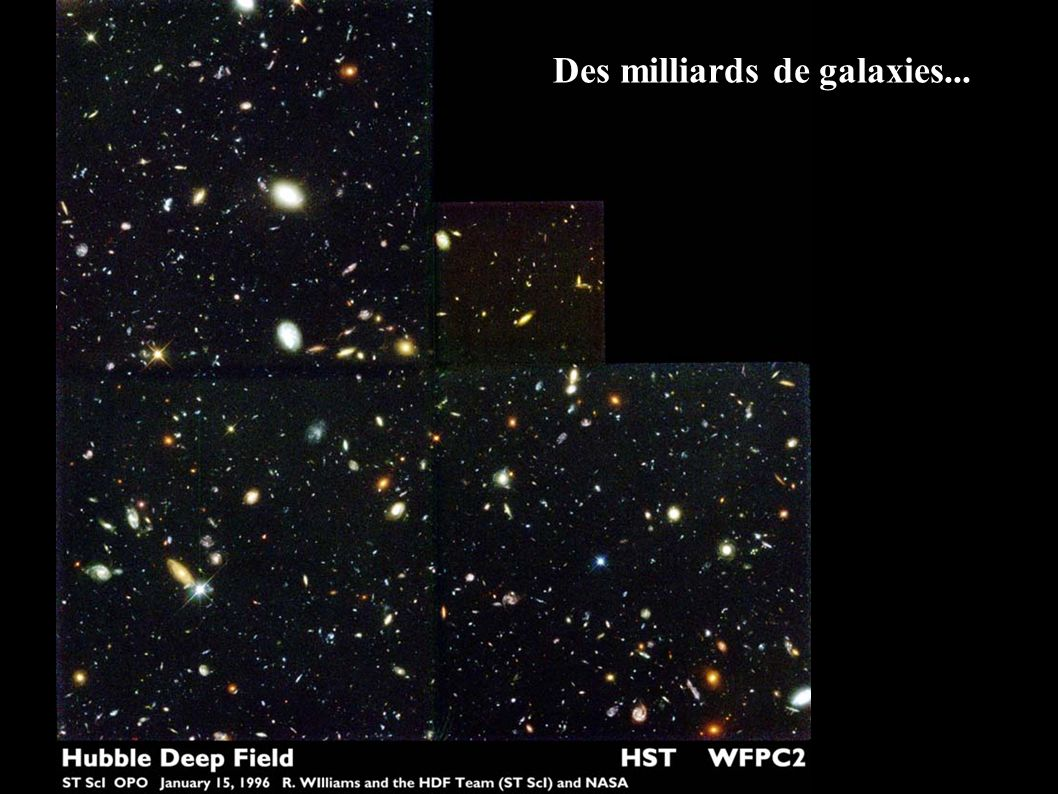 Des milliards de galaxies...