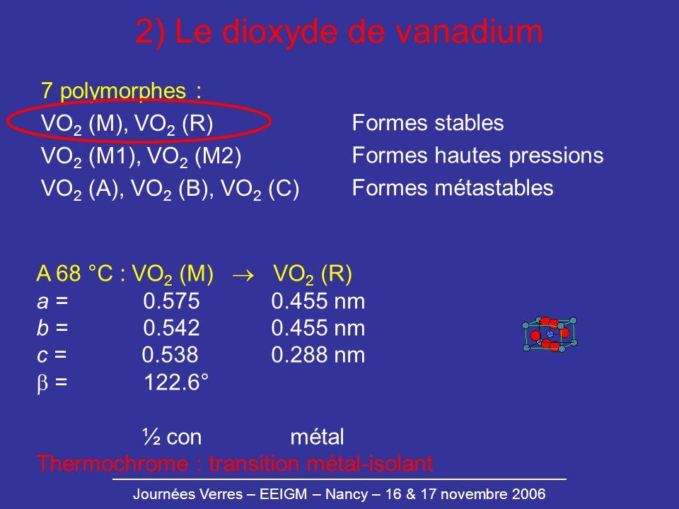 2) Le dioxyde de vanadium